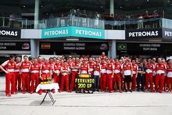 Fernando Alonso, Ferrari celebrates his 200th GP with the team