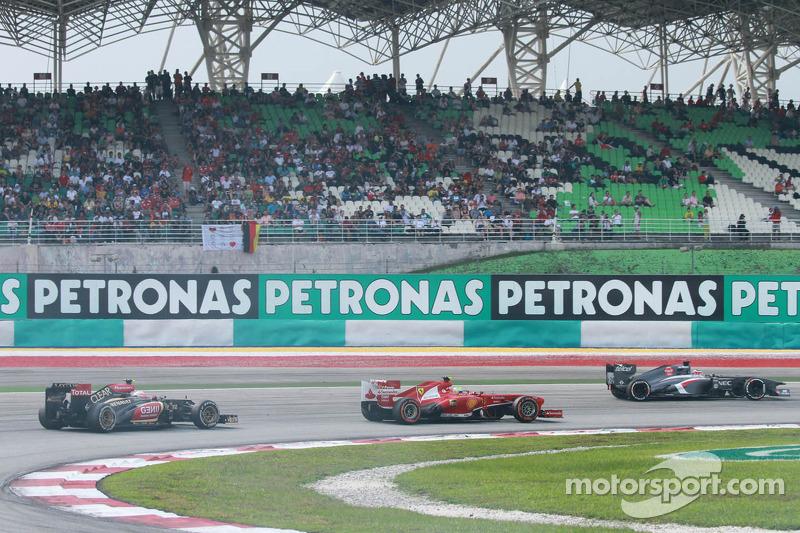 Ромен Грожан. ГП Малайзии, Воскресная гонка.