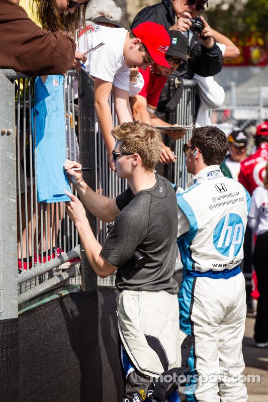 Josef Newgarden, Sarah Fisher Hartman Racing Honda e Simon Pagenaud, Schmidt-Hamilton Motorsports Honda
