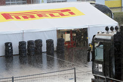 Rain at the Nogaro circuit