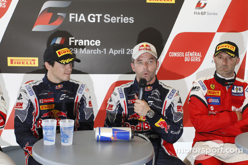 Race winners Sébastien Loeb and Alvaro Parente