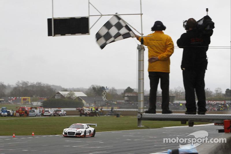 #13 Belgian Audi Club Team WRT Audi R8 LMS ultra: Frank Stippler, Edward Sandström takes the checkered flag