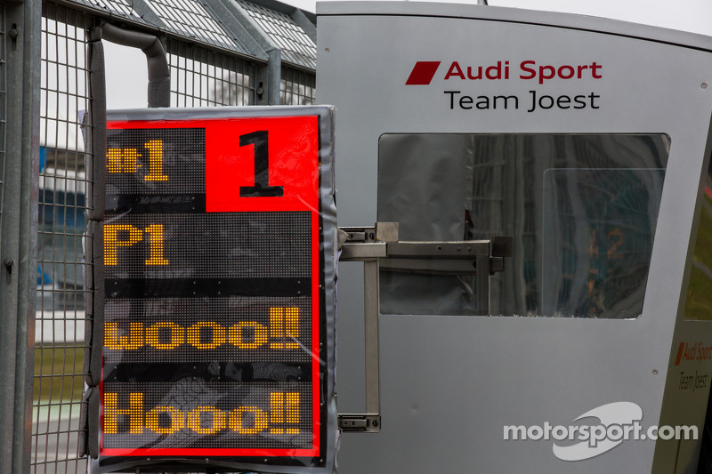 Audi pit board excitement