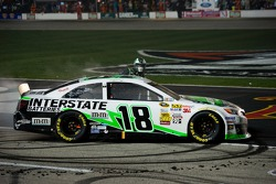 Kyle Busch, Joe Gibbs Racing Toyota celebrates