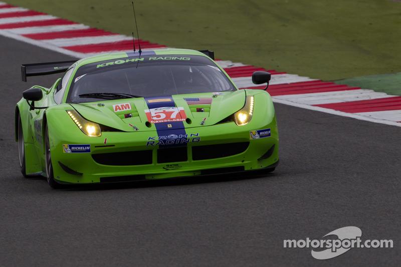 #57 Krohn Racing Ferrari 458 Italia: Tracy Krohn, Nic Jonsson, Michele Rugolo