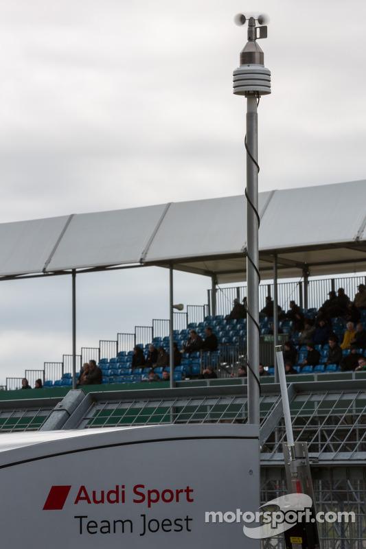 Weathervane da Audi monitorando a rápida mudança climática em Silverstone