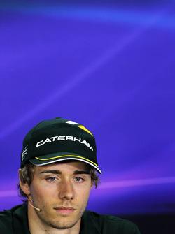 Charles Pic, Caterham, na Conferência de Imprensa FIA