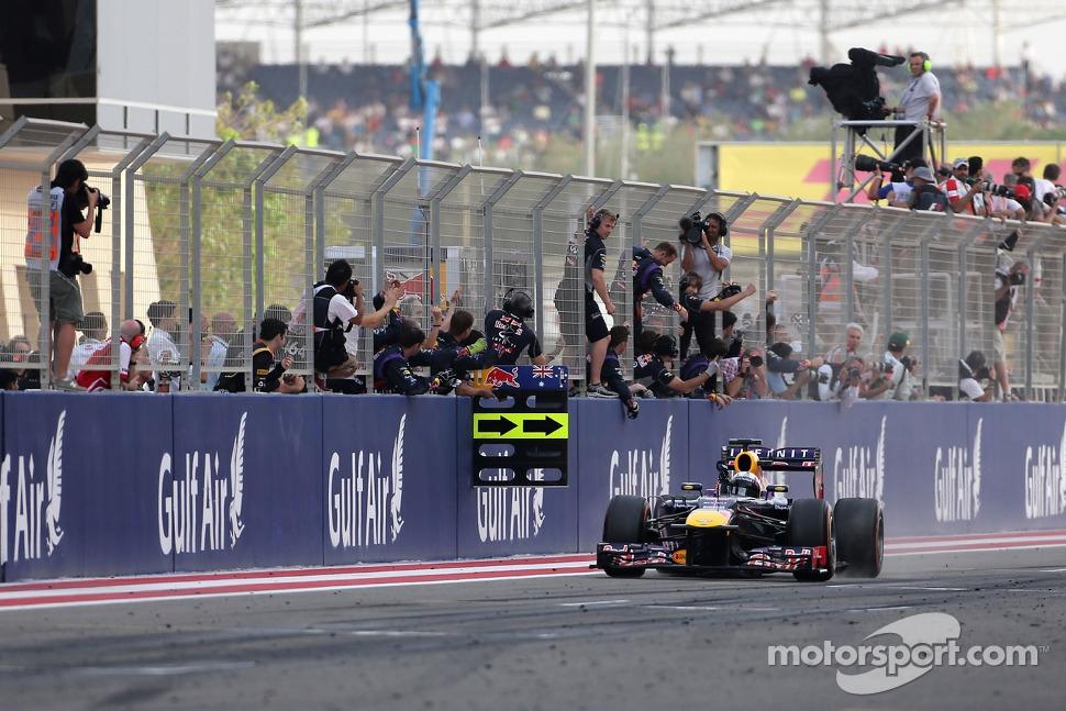 Sebastian Vettel, Red Bull Racing takes the win