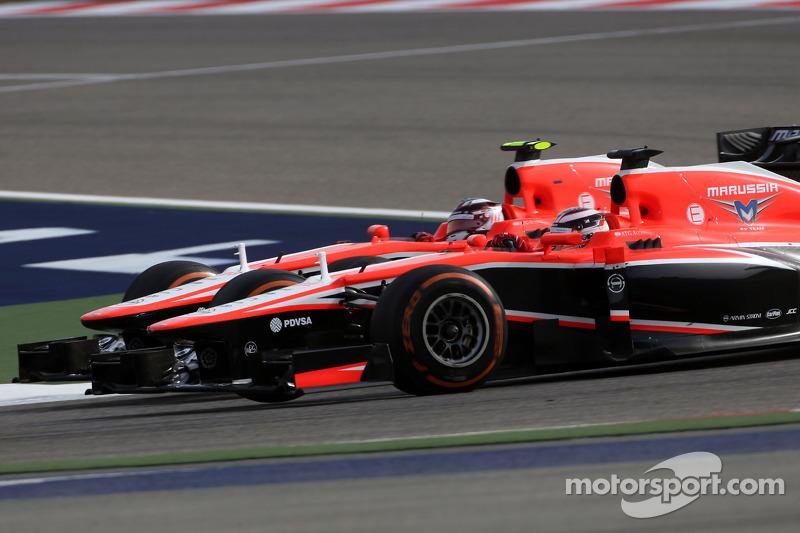 Jules Bianchi, Marussia Formula One Team  and Max Chilton, Marussia F1 Team