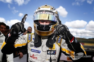 Race winner Kevin Magnussen