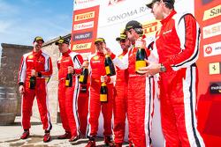 CS podium: winner Jon Becker, second place Brent Lawrence, third place Marc Muzzo and TP podium: winner Carlos Kauffmann, second place Mark McKenzie, third place Emmanuel Anassis