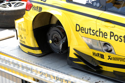 Car of Timo Glock, BMW Team MTEK BMW M3 DTM with the los tyre
