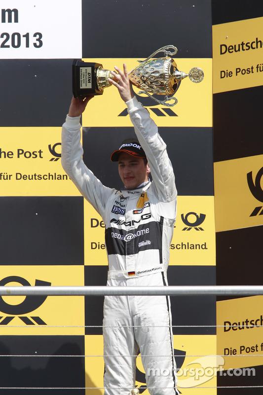 terceiro colocado Christian Vietoris, Mercedes AMG DTM-Team HWA DTM Mercedes AMG C-Coupé