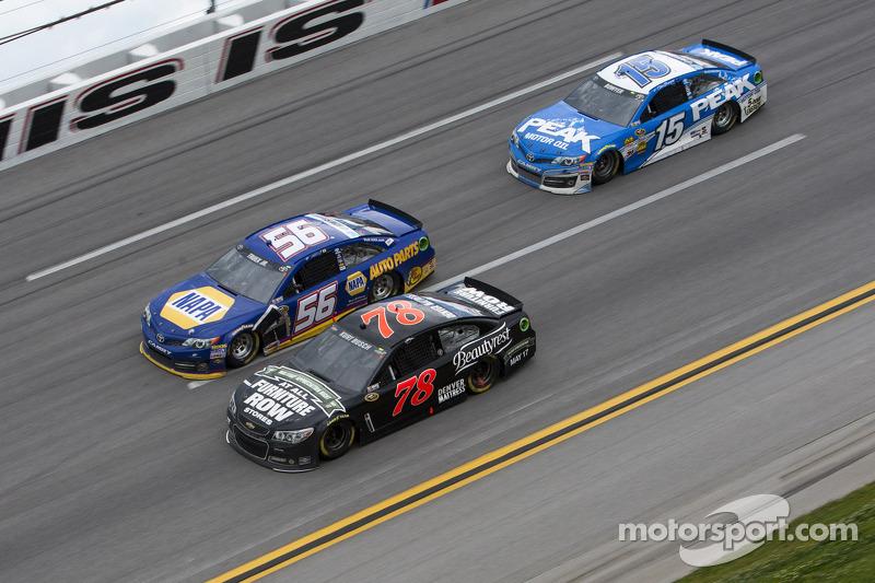 Kurt Busch, Carl Edwards and Martin Truex Jr.