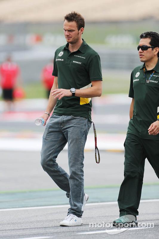 Giedo van der Garde, Caterham F1 Team anda pelo circuito