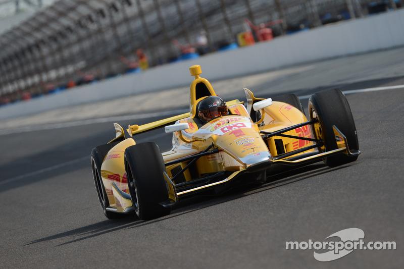 Kurt Busch testet ein IndyCar