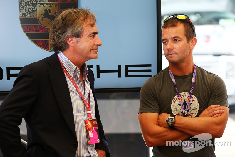 Carlos Sainz, met Sebastien Loeb