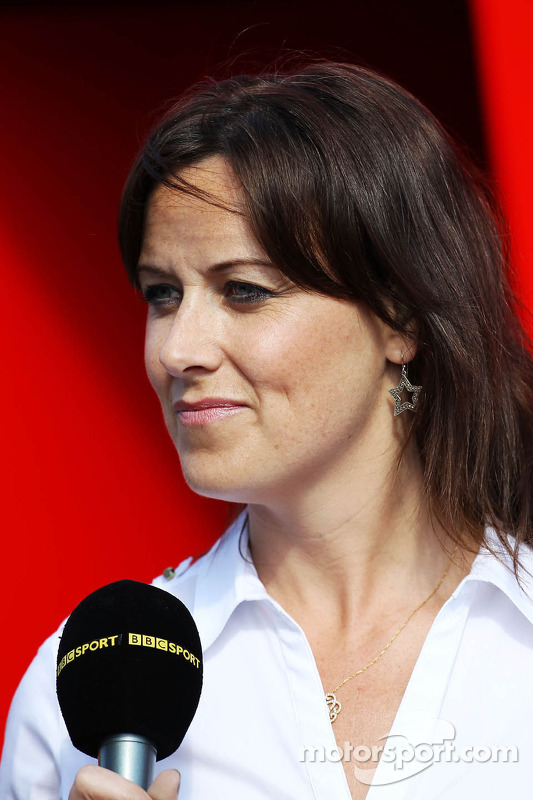 Lee McKenzie, BBC Television Presenter at Spanish GP