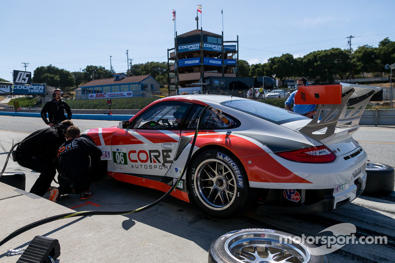 Core autosport in the pit