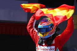Race winner Fernando Alonso, Ferrari celebrates