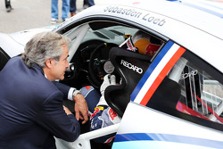 Sebastien Loeb, Porsche AG with Carlos Sainz (ESP)