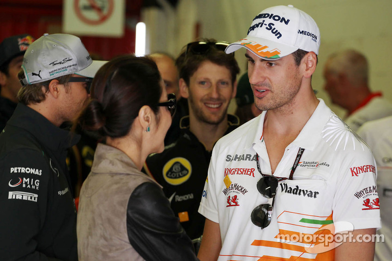Adrian Sutil, Sahara Force India F1 met Michelle Yeoh (MAL)