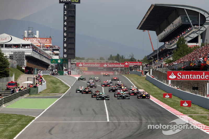 Start of race, Nico Rosberg, Mercedes GP