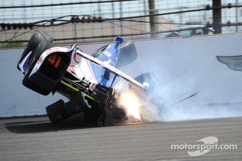 Trouble for Conor Daly, A.J. Foyt Enterprises Honda