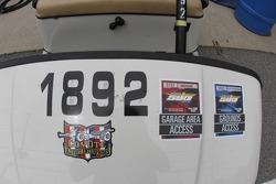 Detalle de un carro de golf