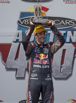 Race winner Jamie Whincup, Red Bull Holden