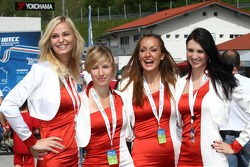 Dames in de paddock