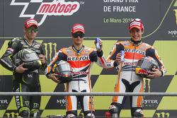 1. Дані Педроса, Repsol Honda Team. 2. Кел Кратчлоу, Monster Yamaha Tech 3. 3. Марк Маркес, Repsol Honda Team