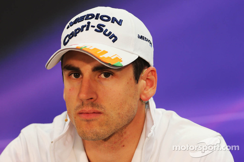 Adrian Sutil, Sahara Force India F1 bij de FIA-persconferentie