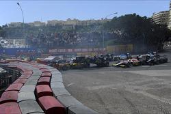 Start of the race, Crash, Stefano Coletti