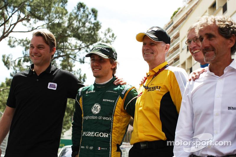 Charles Pic, Caterham, Carlos Tavares, Renault COO, Alain Prost (FRA)