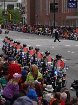 Indy 500 parade through downtown Indianapolis