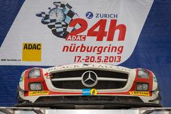 Winning car #9 Black Falcon Mercedes-Benz SLS AMG GT3 (SP9) on the podium in parc fermé