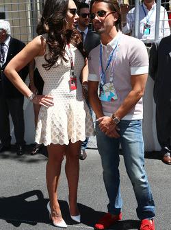 Tamara Ecclestone, with fiance Jay Rutland on the grid