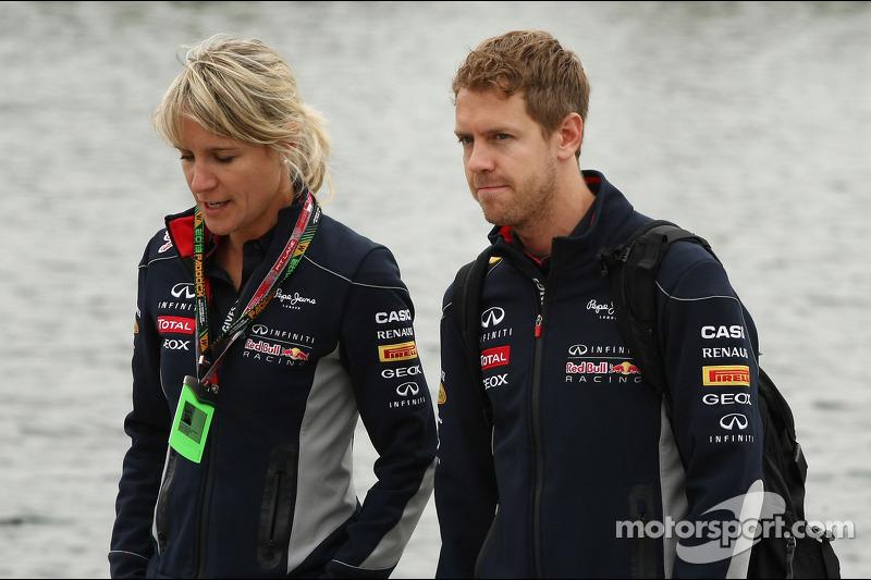 Sebastian Vettel Red Bull Racing With Britta Roeske Red