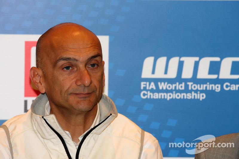 Press conference, Gabriele Tarquini, Honda Civic, Honda Racing Team J.A.S.