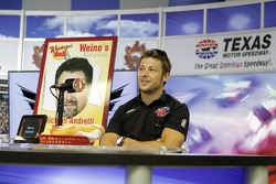 Marco Andretti in a sub eating contest