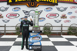 Race winner Trevor Bayne celebrates