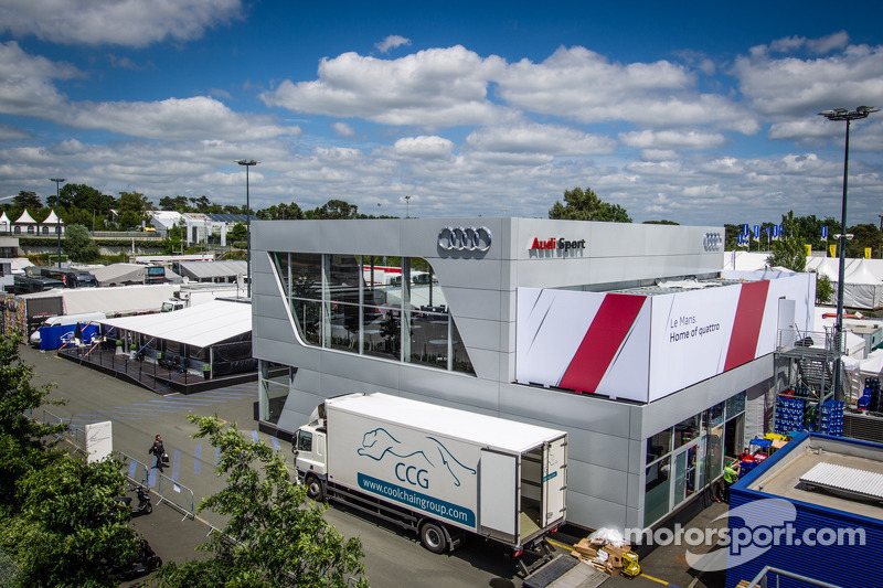 Audi Sport hospitality area