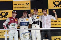 Podium, 2nd Mike Rockenfeller, Audi Sport Team Phoenix Racing Audi A5 DTM, 1st Gary Paffett, Mercedes AMG DTM-Team HWA DTM Mercedes AMG C-Coupe, 3rd Christian Vietoris, Mercedes AMG DTM-Team HWA DTM Mercedes AMG C-Coupe