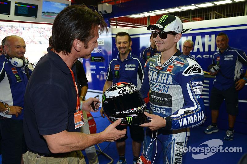 Acteur Sean Penn met Jorge Lorenzo, Yamaha Factory Racing