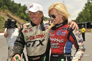 John Force and daughter Courtney Force