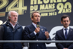 pódio: David Richads, Jacky Ickx e François Fillon pay an emotional homage to Allan Simonsen