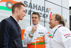 Jordy Cobelens, CEO TW Steel with Paul di Resta, Sahara Force India F1 and Robert Fernley, Sahara Force India F1 Team Deputy Team Principal.