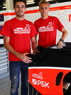 Jules Bianchi, Marussia F1 Team and Max Chilton, Marussia F1 Team support Walking with the Wounded.
