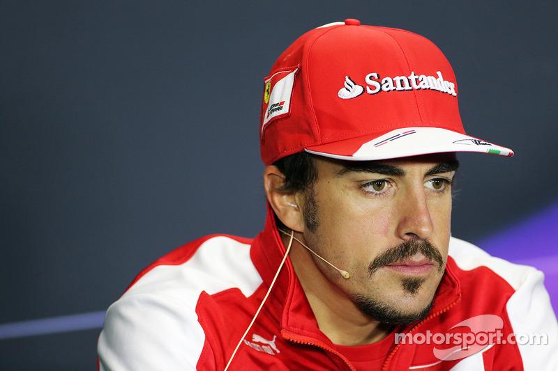 Fernando Alonso, Ferrari in the FIA Press Conference.